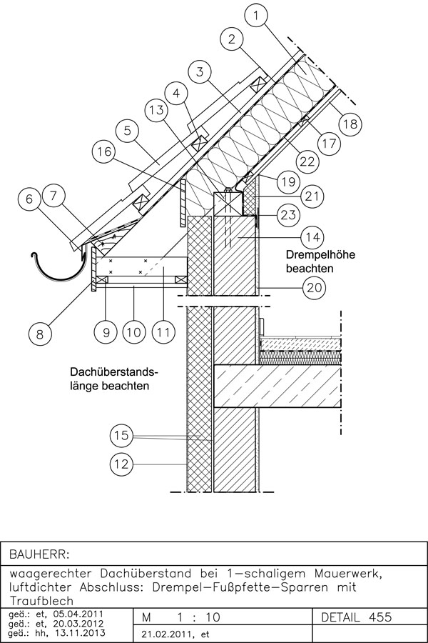 pultdach aufbau detail blechdach mit d mmung if45 hitoiro sichtdachstuhl aufbau aufsparrend. Black Bedroom Furniture Sets. Home Design Ideas