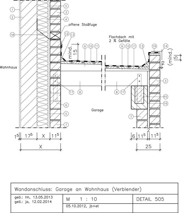 505 Garage An Wohnhaus (Verblender)